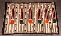 Vintage Yei Navajo Rug