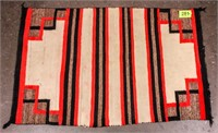 Vintage Banded Navajo Saddle Blanket