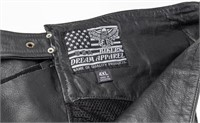 Lot of Leather Chaps, Gloves and Vehicle Bags