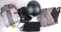 Lot of Harley Davidson Jacket, Pants Helmet Gloves