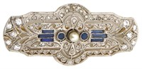 Two Platinum, Gold and Diamond Brooches