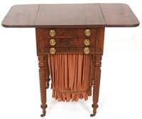 Mahogany Salem Sheraton Work Table