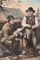 """Currier & Ives """"Arguing The Point"""""""