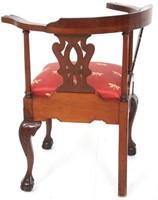 Sypher & Co. Mahogany Corner Chair
