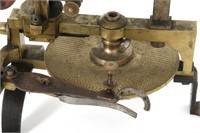 Brass 19th C. Gear Cutter in Case