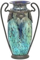 """Loetz """"Cobalt Papillon"""" Art Glass Vase."""