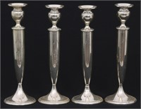 Set of Four Weighted Sterling Candlesticks