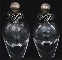 Pair of Goerg Jensen Perfume Bottles