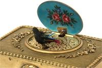 20th C. Musical Singing Bird Automaton Music Box