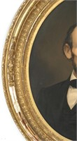 Abraham Lincoln Oval Portrait Chromolithograph