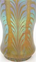 Attr. Loetz Art Glass Fern Vase
