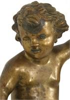 Figural Bronze Putti Mount
