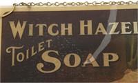 Witch Hazel Soap Advertising Window Hanging