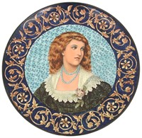 Doulton Lambeth 20 Inch Faience Portrait Charger