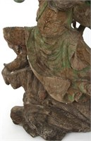 Large Chinese Guan Yu Carved Sculpture
