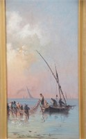 Italian Triptych Oil Painting