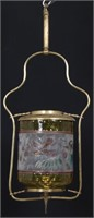 Pomona Style Glass and Brass Hall Lamp