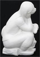 Large Lladro Bisque Porcelain Figure