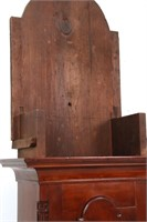 Early American Cherry Inlaid Grandfather Clock