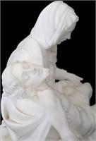 "Alabaster Sculpture After Michelangelo's ""Pieta"""