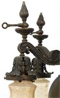 Bronze Gas & Electric Chandelier