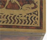Erhard & Sons Brass Inlaid Maple Box