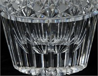 Cut Glass Vase & Square Bowl