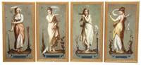 Four Seasons Oil Paintings