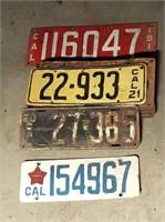 Over 30 Antique / Vintage Ca Lic Plates