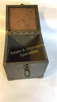 Antique Wooden Ammo Box and Other