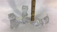 3 Waterford Crystal Westie Figures