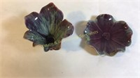 5 Pc Studio Pottery Items Flower Dishes & Nymph