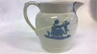 """Wedgwood Embossed Pitcher 7""""H x 8""""D"""
