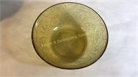 6 Pink & Yellow Depression Glass Serving Dishes