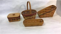 4 Longaberger Baskets