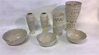 7 Piece Lenox Vases and Small Decorative Bowls