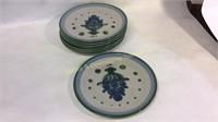 13 Pc M.A. Hadley Pottery Plates