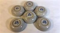 """6 Pc M.A. Hadley Pottery Bowls 6""""D"""