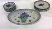 13 Piece M.A. Pottery Dishes