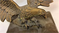 Cast Metal Eagle on Wood Base