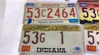 12 Vintage/Low Number License Plates