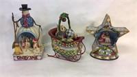 3 Jim Shore Decorative Christmas Pieces