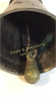 "Heavy Patina Antique Bronze Bell 6"" x 3.5"""