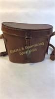 Vintage Turactem Binoculars in Leather Case