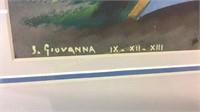 """S. Giovanna Framed Painting 19"""" x 17"""""""