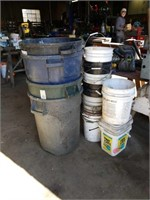 4 garbage cans