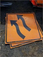 (2) direction signs