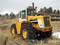 International 4100 Tractor W/Koyker K6 Loader, Vintage Flatb