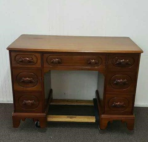 1958 Davis Cabinet Lillian Russell Walnut Desk   Asset ...