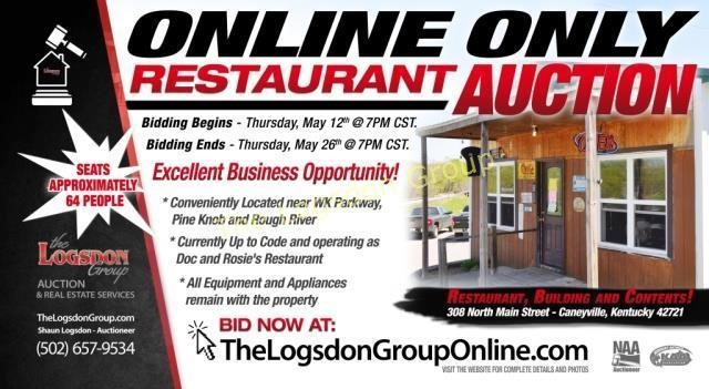 5 26 16 Caneyville Restaurant Online Only Auction